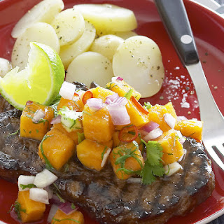 Rib-Eye Steak with Papaya Salsa