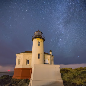 Southern Oregon by Zach Blackwood - Buildings & Architecture Other Exteriors ( sky, stars, sunset, lighthouse, sunrise, southern oregon, coast, milky way )