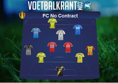 Elftal met spelers dat gratis is op te halen, met Thomas Buffel, Barry Copa, Francis N'Ganga en vele anderen ...