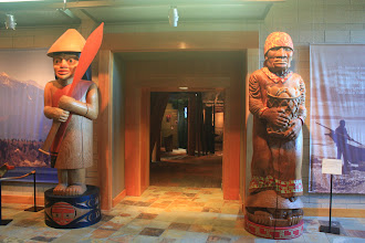 Photo: We were given a tour of the Tulalip Cultural Museum. This is the entrance to the main gallery.