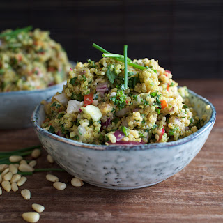 Curried Quinoa and Kale Salad
