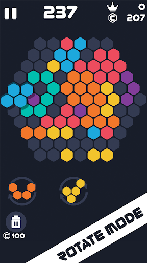 Hexa Mania Fill Hexagon Puzzle, Hex Block Blast 4.6 screenshots 1