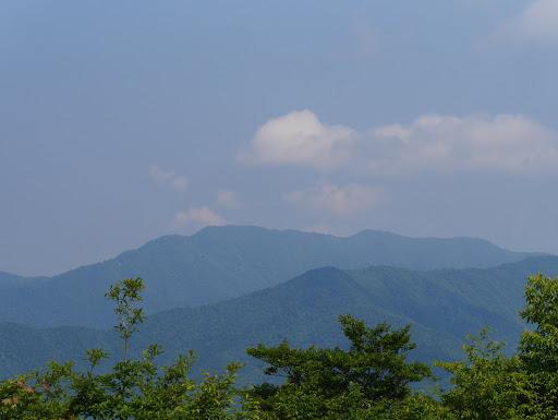 美濃平家岳への稜線