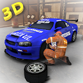 Sports Car Mechanic Workshop 3D