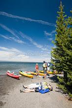 Photo: Kayaking on Yellowstone Lake. Yellowstone NP, WY