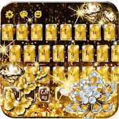 Gold Diamond Glitter Keyboard