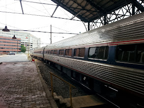Photo: The Pennsylvanian which took us from Philly to Pittsburgh. This shot was taken at the Harrisburg stop.
