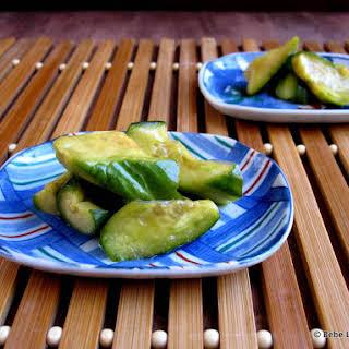 Kyuri Su Shoyuzuke (Soy Sauce & Vinegar Pickled Cucumbers).