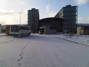 Photo: Another View of the Frost Coating in front of Berlin-Hauptbahnhof