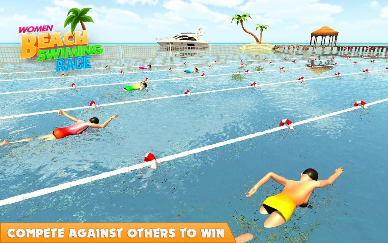 Swimming Race Game - Play online at Y8.com