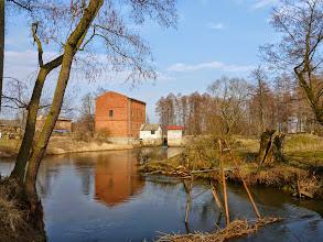 Photo: 2,6 km Kęszyce, jaz młyna, przenoska prawą stroną