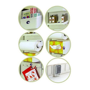 Dispenser bucatarie 5 in 1 cu magnet pentru frigider