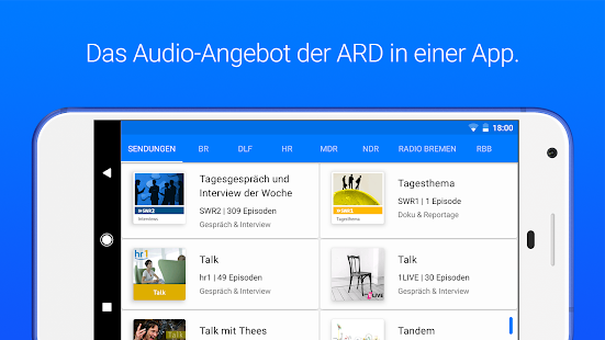 ARD Audiothek Screenshot