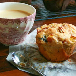 Apple, Cherry, Pear and Almond Breakfast Muffins.