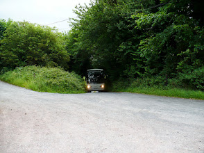 Photo: Bus arrives on Mountain Road, Cahir