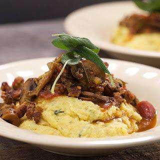 Brown-Butter Polenta with Sausage and Mushroom Ragu