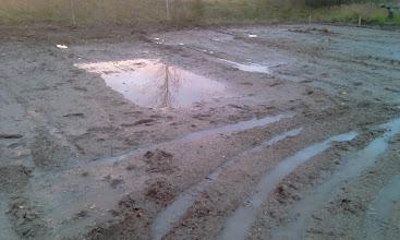 Photo: Diena prieš pradedant grunto stabilizavimo darbus. Būsima autobusų stovėjimo aikštelė.