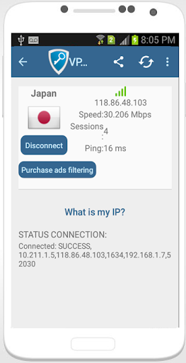 Free internet for android tm using vpn