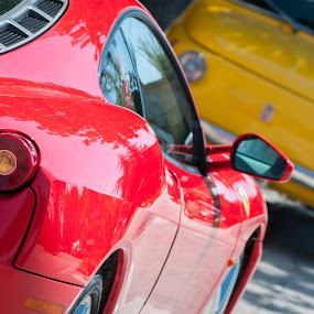 contrast by Frans Scherpenisse - Transportation Automobiles ( red, cars, farrari, fiat, italy,  )