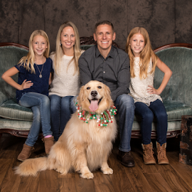 Smile! by Myra Brizendine Wilson - People Family ( dogs, canine, family, dog, people, pet,  )