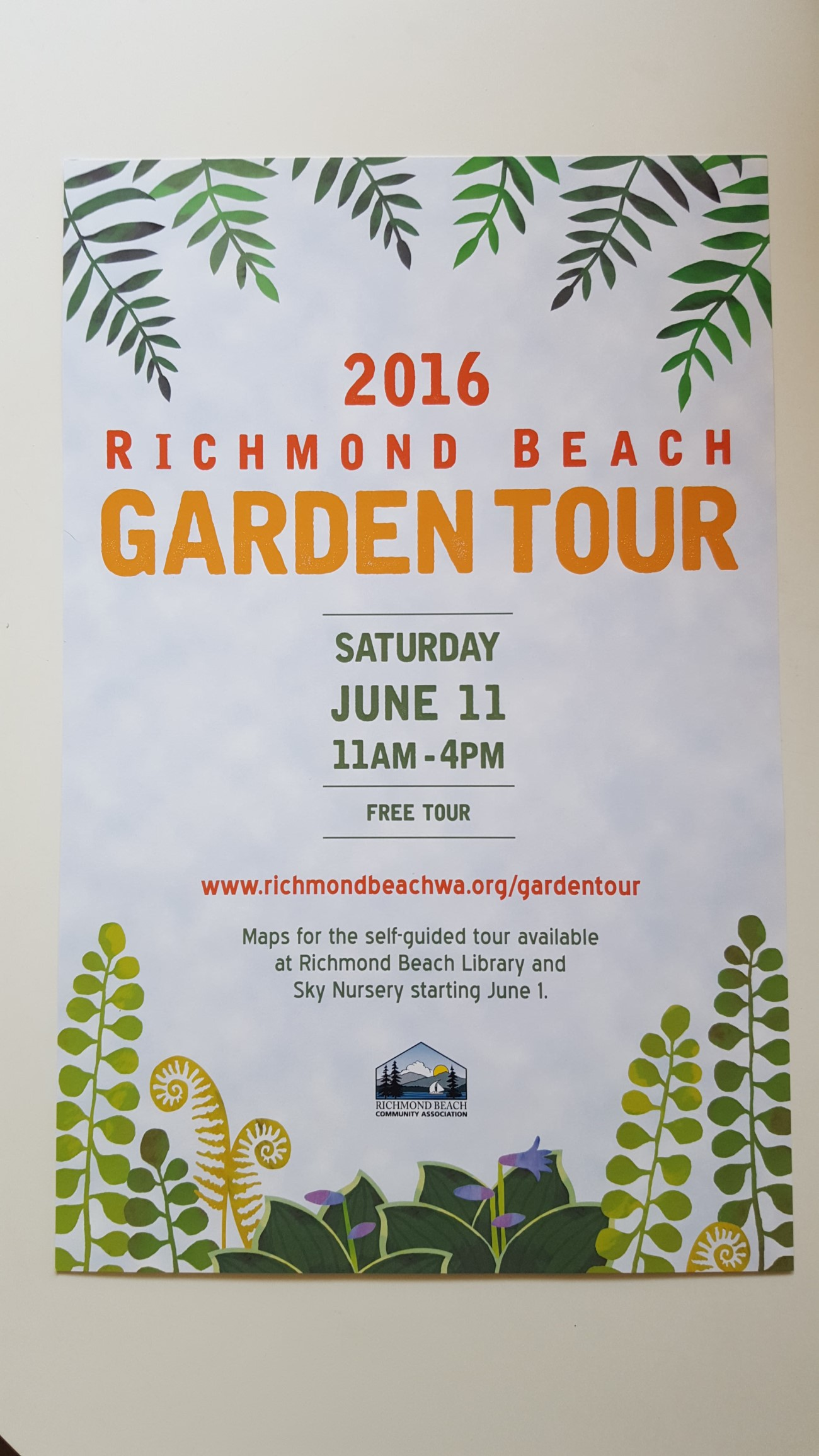 Photo: Garden Tour poster by Yasuyo Dunnett