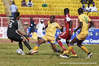 Photo: Jean-Baptiste MUGIRANEZA  (7) equalises for Rwanda in extra time[Rwanda vs Sudan, CECAFA 2015, Semi final, 3 Dec 2015 in Addis Ababa, Ethiopia.  Photo © Darren McKinstry 2015, www.XtraTimeSports.net]