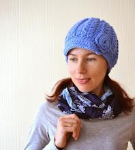 Photo: женская вязаная кепка Колосок