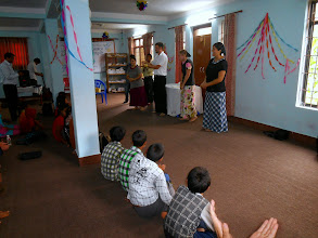 Photo: IGo students ministering at Pastor Anand's church.