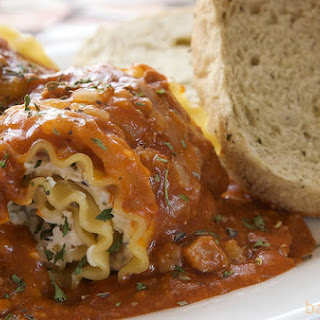 Vegan Spinach Lasagna Rollups with Herbed Cashew Ricotta.