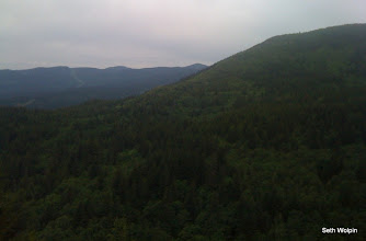 Photo: In the foreground is the ridge we ran over for the first loop.