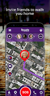 bSafe - Personal Safety App Screenshot