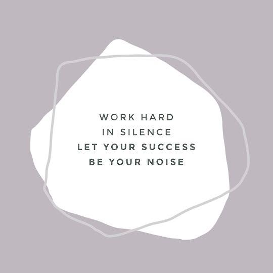 Work Hard In Silence - Instagram Post Template