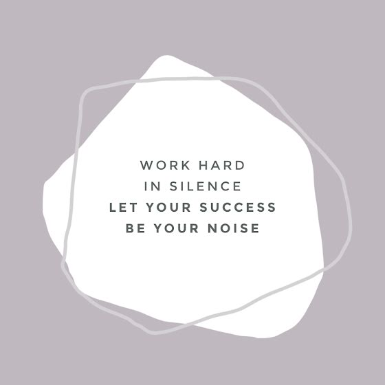 Work Hard In Silence - Instagram Post Template