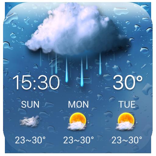 Rainy Drop Weather Widget