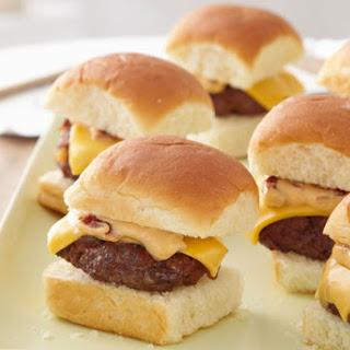 Mini Cheeseburgers with Chipotle Mayo