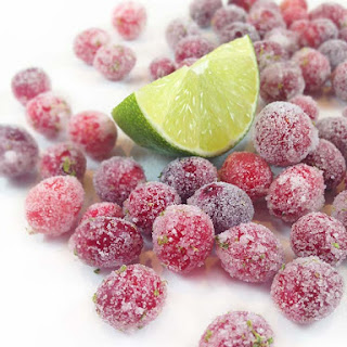 Lime Sugared Cranberries