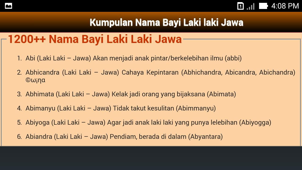 Nama Bayi Laki Laki Islam Android Apps On Google Play