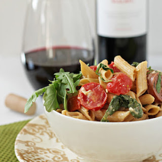 Sausage, Red Pepper and Arugula Pasta