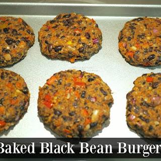Baked Black Bean Burgers