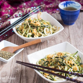 "Asian Fried Zucchini ""Noodles""."