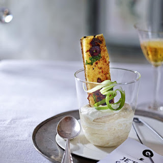 White Bean Purée with Sun-Dried Tomato and Olive Croutons