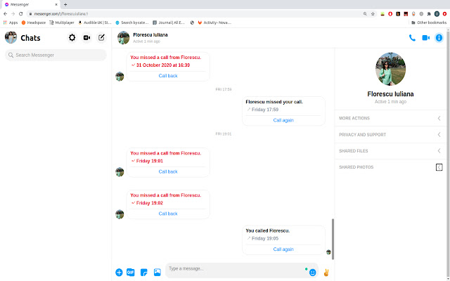 Messenger focus-mode