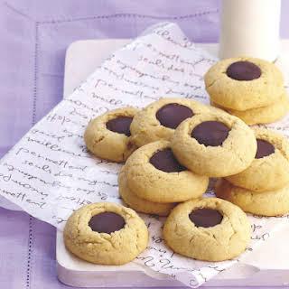 Chocolate Thumbprint Cookies.