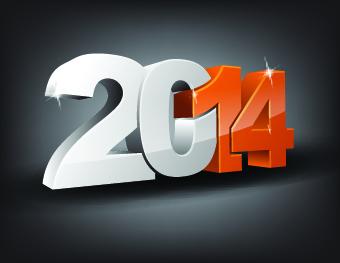 Año Nuevo 2014 con números