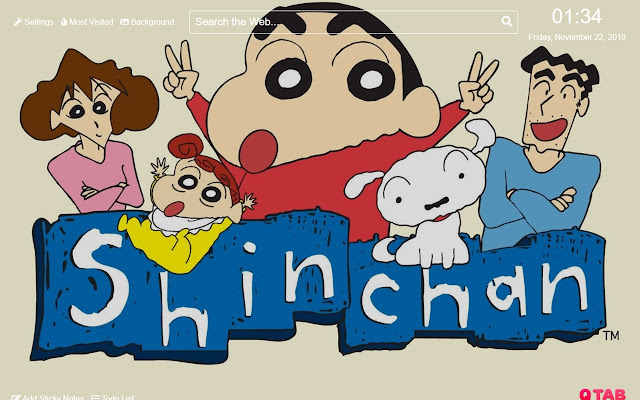 Crayon Shin-chan Wallpaper New Tab