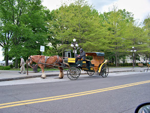 Photo: One of the many horse drawn siteseeing carriages in Quebec City