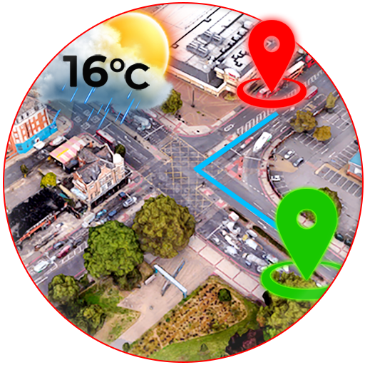 GPS Free Now: Street Map View 3D & Live Weather