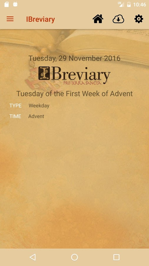 iBreviary – Screenshot