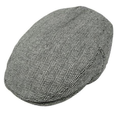 H-bone Flat Cap grå