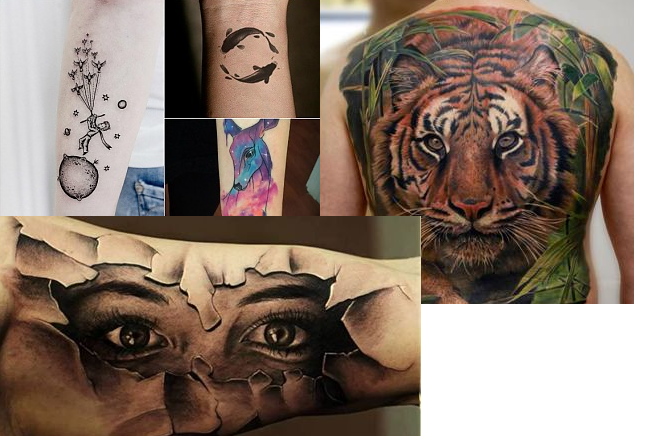 Projekt Ink świat W Kolorowych Barwach Metody Tatuowania